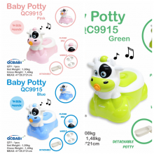 Baby Potty QCBaby Cow QC9915 / Pispot Anak / Potty Seat