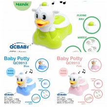 Baby Potty QCBaby Duck QC9913 / Pispot Anak / Potty Seat