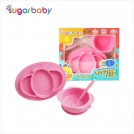 Sugar Baby - 3in1 Healthy Silicone Feeding Set PINK - PINK