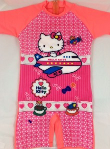 Baju Renang SD - Hello Kitty Bright Orange (7-9thn)