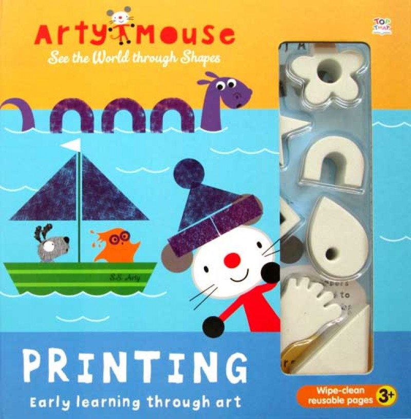 Arty Mouse See the World through Shapes PRINTING with 11 shapes stampers & ink pad