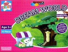 Create & Build Naughty Kitty 55pcs Building Blocks