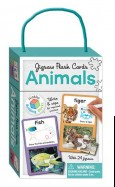 Jigsaw Flash Cards ANIMALS (wipe clean cards with jigsaws)