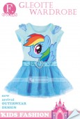 GW 158 Casual Dress - Little Pony Rainbow Dash (F)