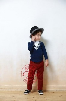 E-Buty 31 V-Chest BlueTop Set Maroon Pants M10029