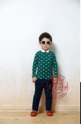 E-Buty 31 T-shirt Green Top Set Navy Pants M10027