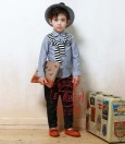 E-Buty 31 Biru ke Abu-abuan Top Set Stripe Pants M10032