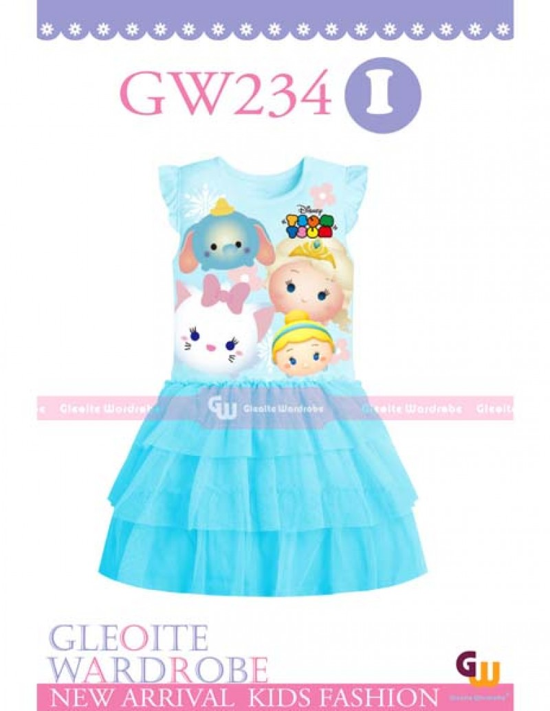 GW 234 Casual Dress - Tsum Tsum Blue (I) Kids