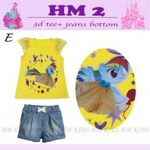 Setelan HM Kids 2 - E ( Rainbow Dash )