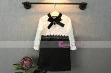 Korea Pink - Renda Dress Black M9788