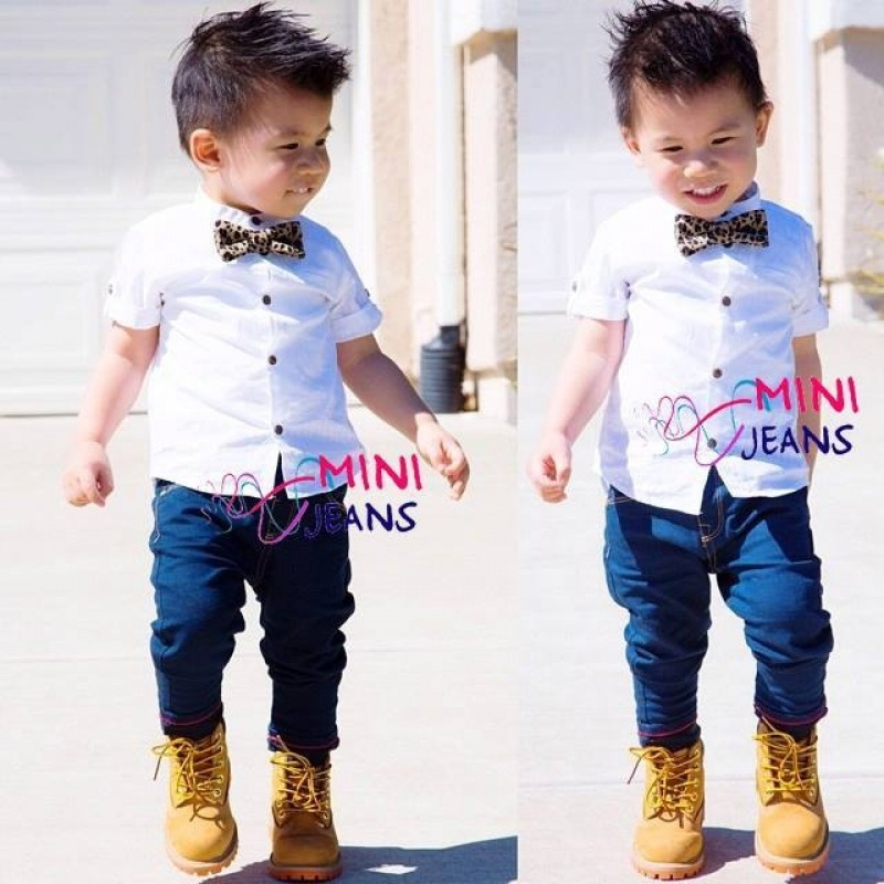 Mini Jeans - Kemeja White Boy M9870