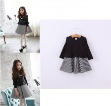 Cikicoko Dress Black Stripe