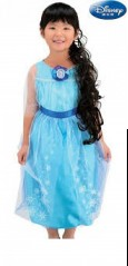 Dress Disney Elsa Lengan Pendek Blue