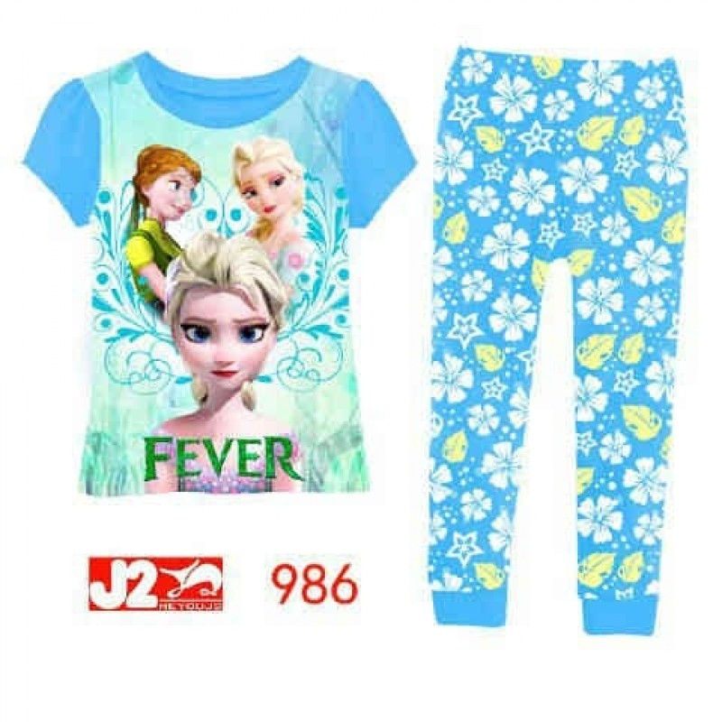 Piyama J2 986 - Blue Frozen Fever