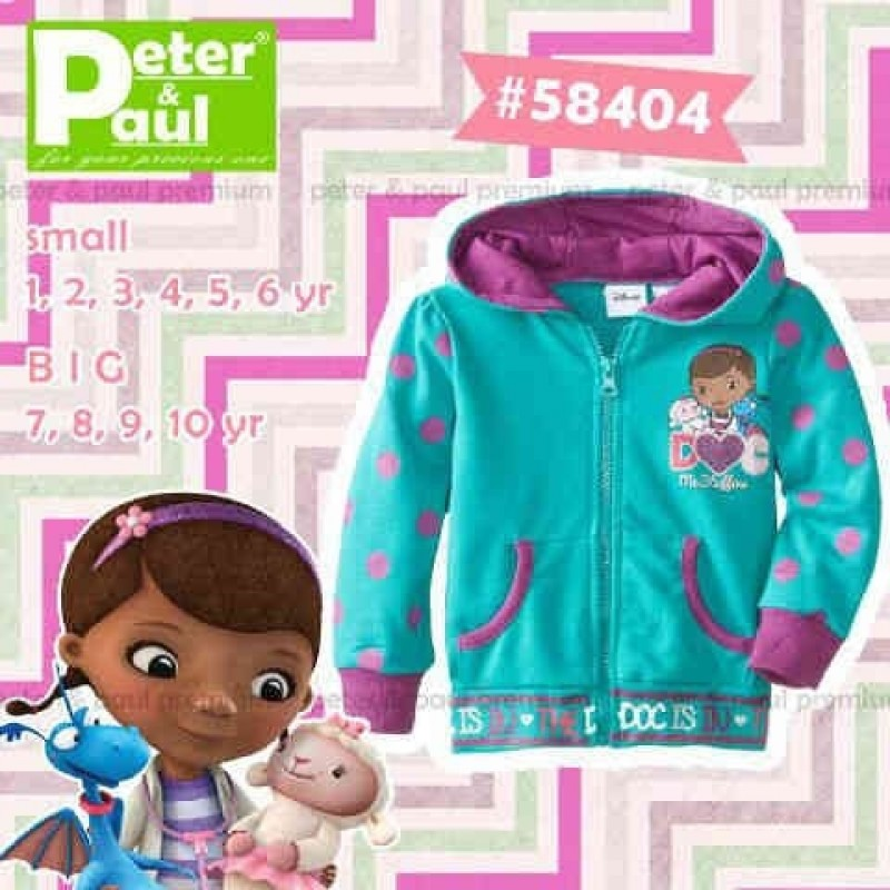 Jaket Peter & Paul - Doc Mcstuffin Blue Pink 58404