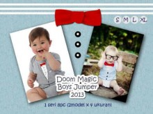 Doomagic Boys Romper Grey & Blue