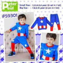 Setelan Peter & Paul - Captain America 59301