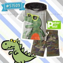 Setelan Peter & Paul - Hoody Dino 51509 (Small)