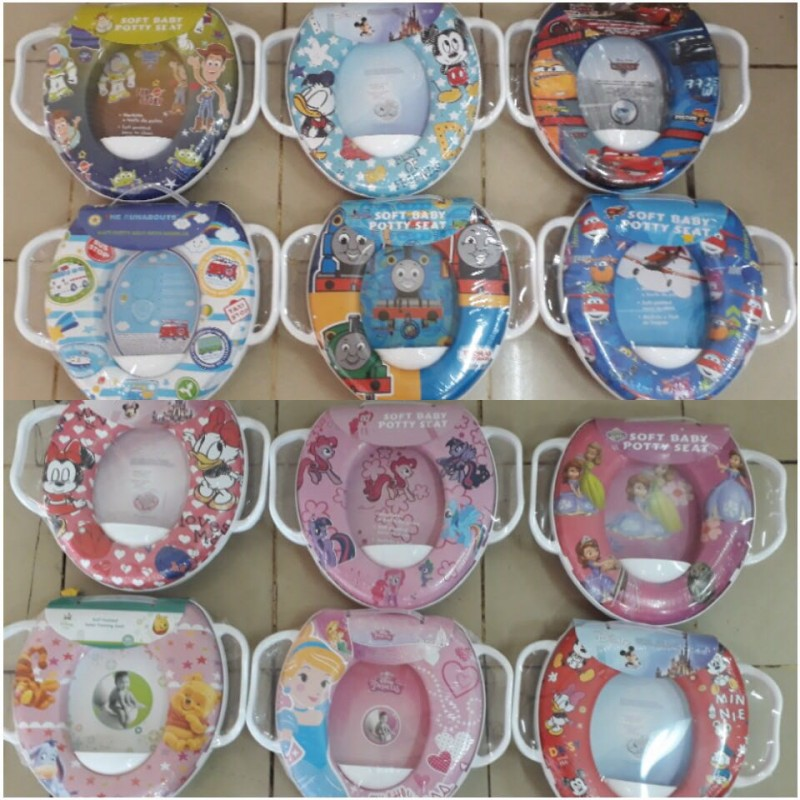 Soft Potty Seat with Handle 12 MOTIF