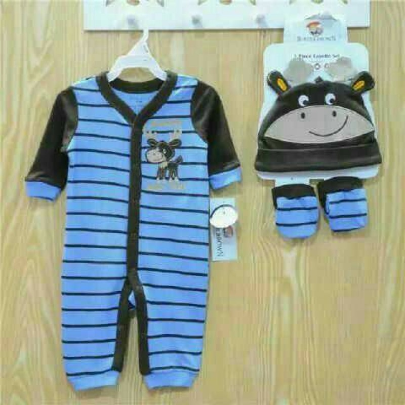 3 Piece Layette Set Buster Brown