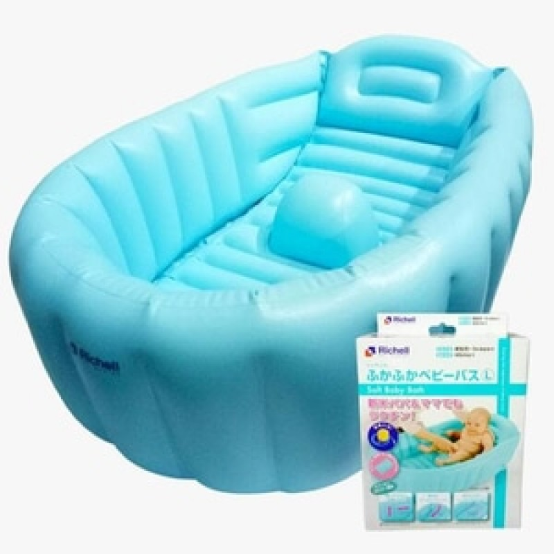 Richell Soft Baby Bath Blue L