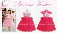 Dress Blossom Amber Hot Pink