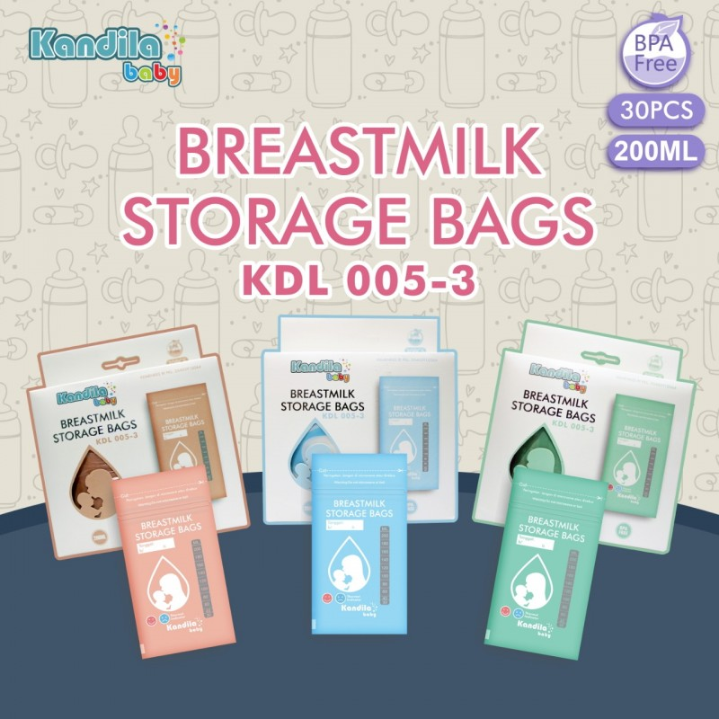 KANDILA Breastmilk Storage Bags KDL 005-3 Kantong Asi 200 ml isi 30 pc