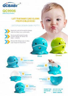 QCBaby Baby Potty Octopus / Pispot Anak QC9906