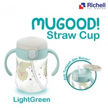 Richell Mugood! Straw Cup 200ml - Light Green