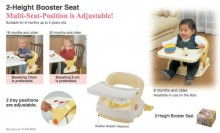 Richell 2 Height Booster Seat
