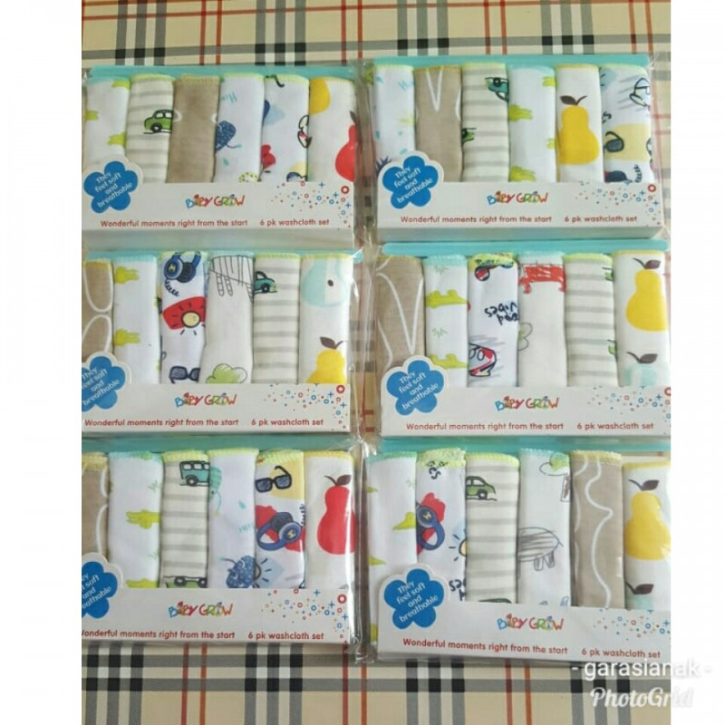 Baby Grow Saputangan isi 6pcs (Boy)