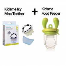 Kidsme Icy Moo Teether + Kidsme Food Feeder 1Paket