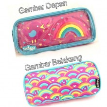 Smiggle Whacky See Thru Pencil Case - Rainbow