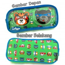 Smiggle Whacky See Thru Pencil Case - Tiger