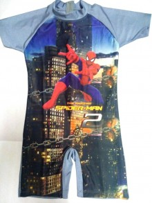 Baju Renang SD - Spiderman Grey Blue (sz 7-9thn)