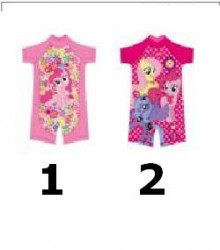 Girl Pony Swimsuit 2 Motif