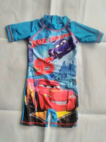 Boy Swimsuit Cars Blue