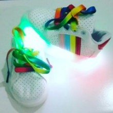 Shoes Ad*idas Rainbow Red LED ( Lampu  Warna Warni,Bukan 1 Warna )