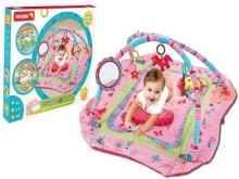 Fairchild Prime Activity Gym & Playmat - Pink Zoo