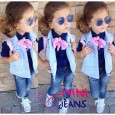 Mini Jeans - 3 in 1 Pink Ribbon set
