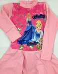 Baju Renang Muslim SD - Princess Light Pink (7-9thn)