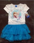 Dress Frozen White Blue