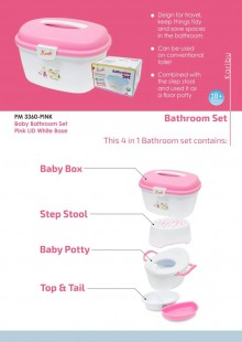 Karibu Baby Bathroom Set Pink Lid White Base Pink