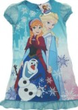 Dress Frozen Lengan Pendek