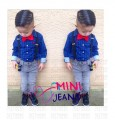 Mini Jeans - Formal Set ( Shirt + Tie + Suspender + Jeans)