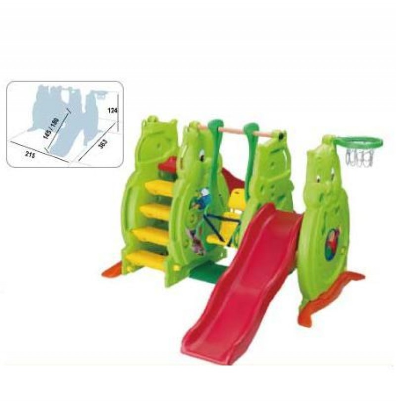 Ching Ching (SL 06) Owl Slide (145cm / 180cm) with Ladybug Swing