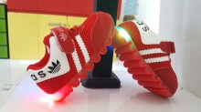 Shoes Ad*idas Baby Red LED ( Lampu  Warna Warni,Bukan 1 Warna )