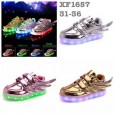 Shoes Wing Metallic LED (Lampu Aslinya Warna Warni,Bukan 1 Warna)