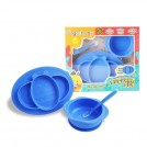 Sugar Baby - 3in1 Healthy Silicone Feeding Set BLUE - BLUE