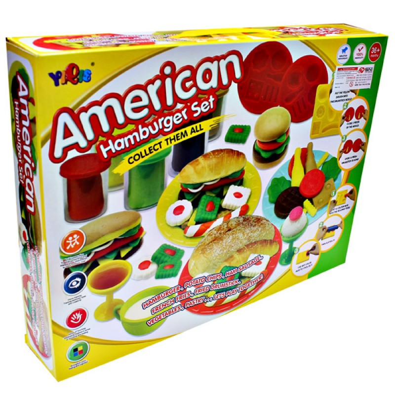 Yiqis Fun Doh - American Hamburger